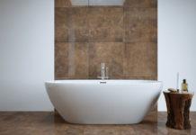 łazienka beton, łazienka biało brązowa